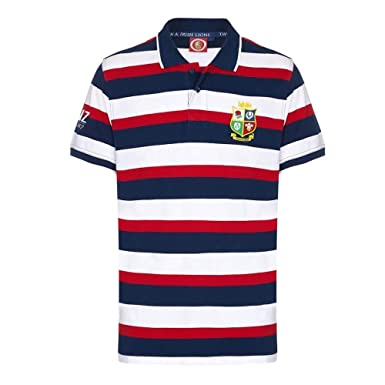 659bf0167b8 SPORTFOLIO british and irish lions hoop polo multi [navy/red/white]-Medium:  Amazon.co.uk: Clothing