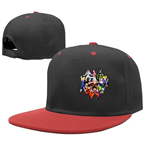 cool-dragon-ball-z-youth-hiphop-baseball-cap-boys-girls-hat-snapback-one-size-red