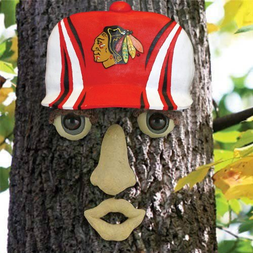 NHL Chicago Blackhawks Resin Tree Face Ornament by Fans With Pride