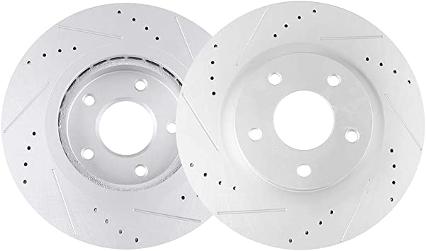 Front Brake Rotors Discs For Nissan Rogue 2014 2015 2016 2017 Drill and Slot