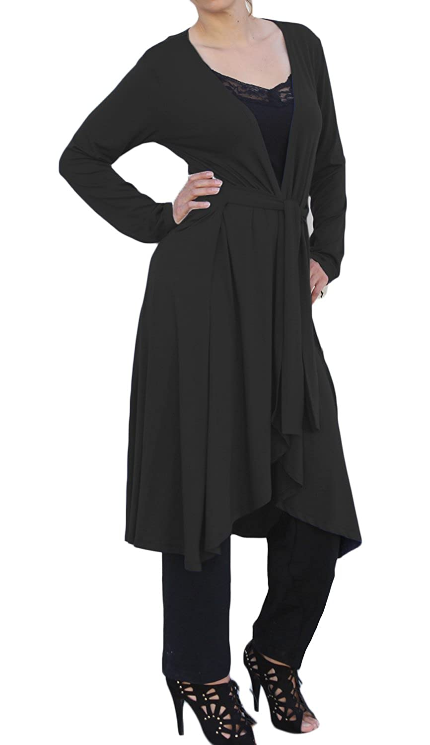 Ooh La La Women Long Wrap Lightweight Flowing Draping Sweater ...