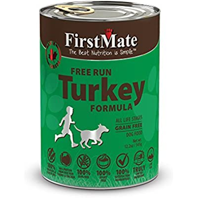 FirstMate Grain Free LID Turkey Formula Canned Dog Food 12.2 oz x 12 cans