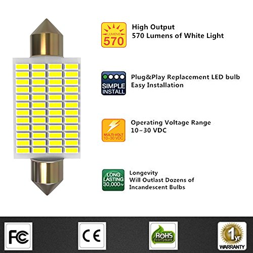LUYED-2-X-570-Lumens-Super-Bright-3014-48-EX-Chipsets-569-578-211-2-212-2-LED-Bulbs-Used-For-Dome-lightXenon-White