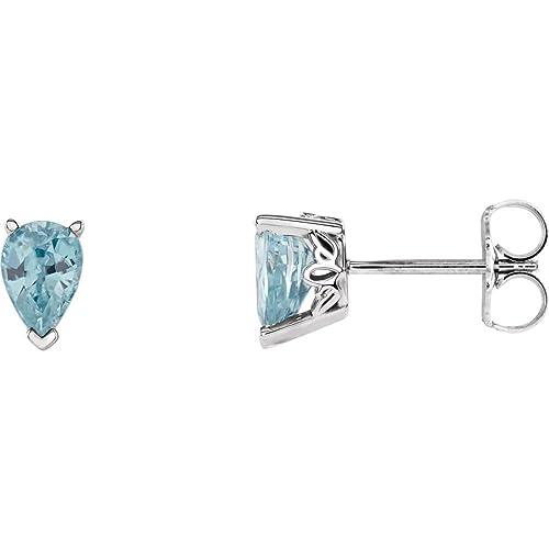 Amazon.com: FB Jewels - Pendientes de circonita pulida, oro ...
