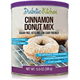 Diabetiker Kitchen Cinnamon Donut Mix Is Sugar-Free, Low-Carb, Keto-Friendly, Gluten-Free, High-Fiber, Non-GMO, No Artificial Sweeteners or Sugar Alcohols Ever
