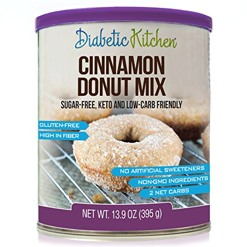 Low Carb Yogurt (Diabetic Kitchen Cinnamon Donut Mix Is Sugar-Free, Low-Carb, Keto-Friendly, Gluten-Free, High-Fiber, Non-GMO, No Artificial Sweeteners or Sugar Alcohols Ever)
