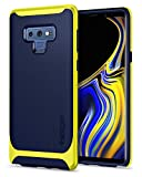Spigen Neo Hybrid Galaxy Note 9 Case with Herringbone Flexible Inner Protection and Reinforced Hard Bumper Frame for Galaxy Note 9 (2018) - Ocean Blue