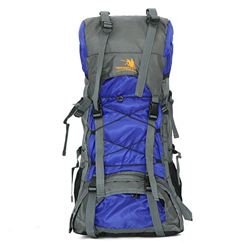 Free Knight 60L Outdoor Shoulder Sports Bag Waterproof Hiking Backpack(blue) by Free Knight