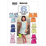 Butterick Patterns B3832 Children's & Girls' Top, Skort & Shorts, Size 6-7-8