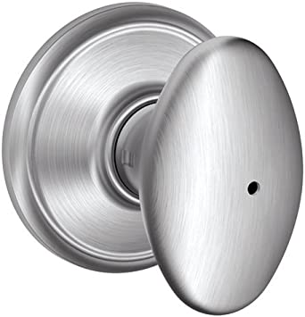 Schlage Plymouth F40 Bed /& Bath Privacy Door Knob Satin Chrome Lock 626 NEW