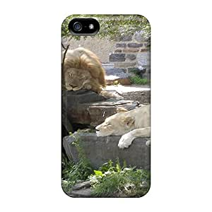 Durable Protector Case Cover With The Big Lions Sleep Hot Design For Iphone 5/5s