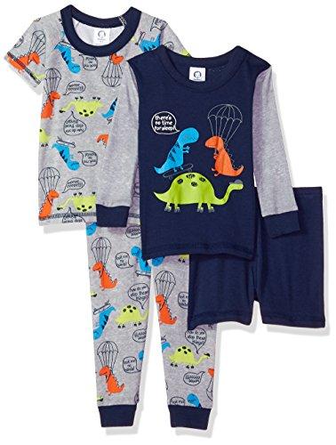Gerber Baby Boys 4 Piece Pajama Set, Dino, 24 Months