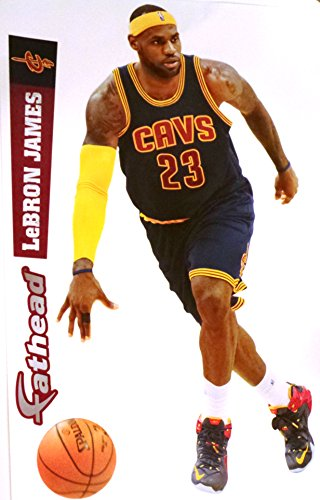 NBA Cleveland Cavaliers Lebron James 2014-2015 Fathead Teammate Decal, 13 x 9-inches