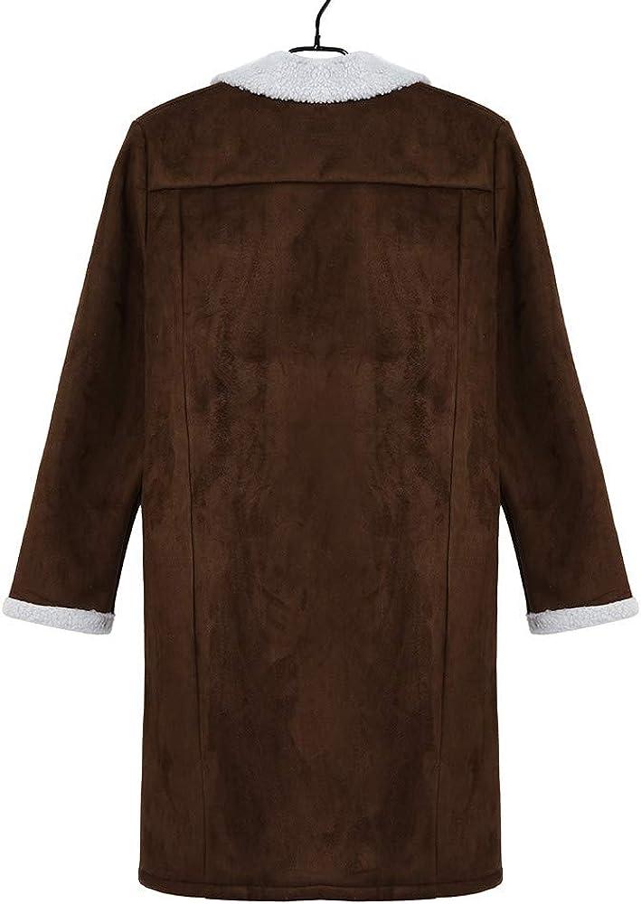 TTOOHHH Mens Long Section Autumn Warm Winter Slim Wool Windbreaker Jacket Coat Outwear