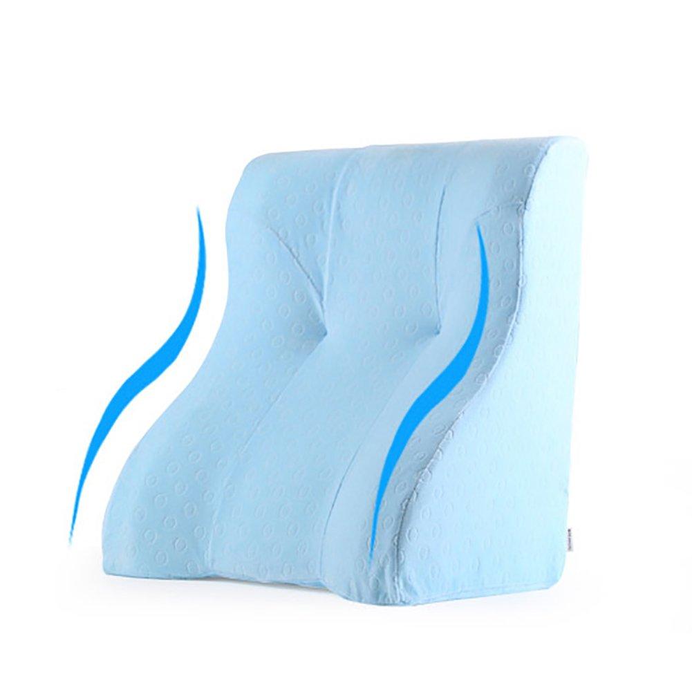 GUOWEI cabecero Cintura Cojín De Respaldo Almohada Triangular Haragán Espuma De Memoria Suave Ideal para Leer 10 Modelos Triangulares Cama cabecero (Color ...