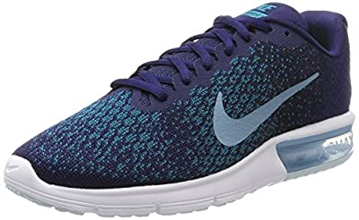 Nike Men's Air Max Sequent 2 Running Shoe Binary Blue/Cerulean/Black/Blustery Size 8.5 M US