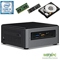 Intel BOXNUC7i5BNH Core i5-7260U NUC Mini PC w/ 16GB DDR4, 256GB NVMe M.2 SSD, 1 TB 2.5 HDD, Windows 10 Home - Configured and Assembled by MITXPC