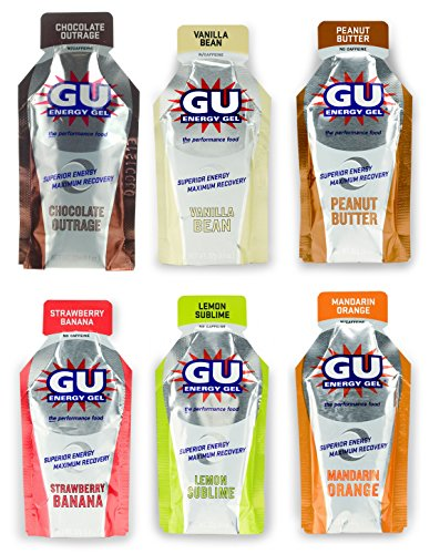 GU Energy Gel - 6 Flavor Variety Pack (6 x 1.1oz Packs)