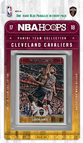 Basketball Team Set - Cleveland Cavaliers 2017 2018 Hoops NBA Basketball Factory Sealed 11 Card Team Set with LeBron James and Kevin Love plus