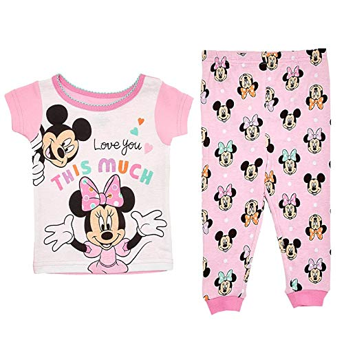 Used, Baby Girls Minnie Mouse & Mickey Pajamas Size 24 Months for sale  Delivered anywhere in USA