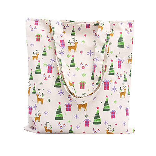 L014 Animal Women's Open Deer song Cute Tote Canvas Oath Print Bag tZO8wqWSx