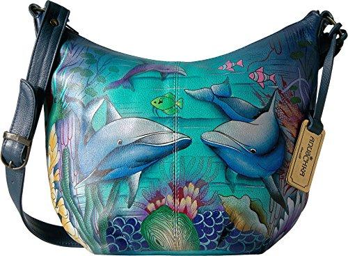 Anuschka Medium Bucket Hobodolphin World, Dolphin World by ANUSCHKA (Image #3)