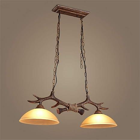 Lámparas de araña Luz de techo Rústico Vintage Resina Astas ...