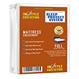 Waterproof Mattress Protector - Instyle Fabrics Sleep Protection - Waterproof / Bed Bug Proof Mattress Encasement Premium Waterproof Lab Certified Bed Bug Proof Zippered Mattress Cover (Full)