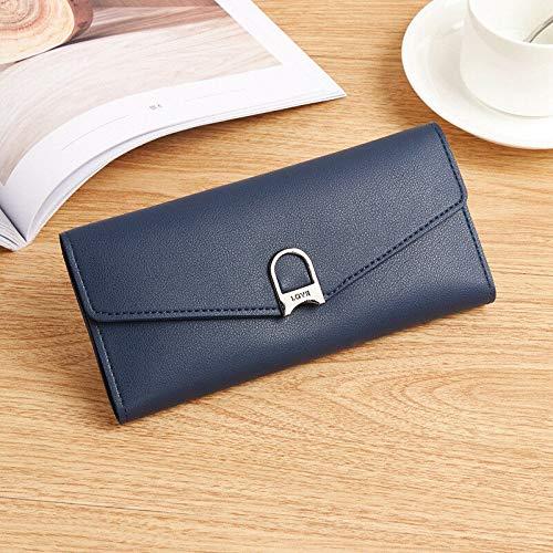 (new women purse clutch leather wallet long card holder mobile zippper handbag (Color - #2 Dark)