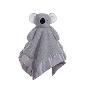Apricot Lamb Stuffed Animals Soft Security Blanket Gray Koala Infant Nursery Character Blanket Luxury Snuggler Plush(Gray Koala, 14 Inches)