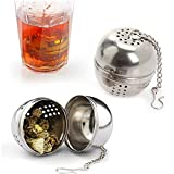 12pcs Stainless Steel Herbal Ball Spice Infuser Filter Diffuser Tea Strainer Coffee Teas Tools