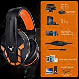 Kikc PS4 Gaming Headset with Mic for Xbox