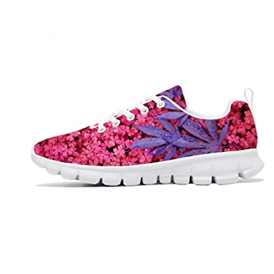 20fba573910 FIRST DANCE Shoes for Women Flower Design Printed Running Tennis Shoes  Lightweight Walking Floral Candy Print Shoes for Women Fashion Sneaker  Spring ...