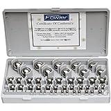Fowler 52-438-766 Chrome Steel Inch Gauge Ball Set, 52 Piece