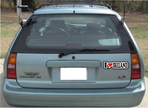 I Love Heart Bumper Sticker 15 cm I LOVE IRELAND