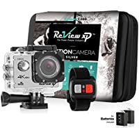 Review XP C200 16MP 4K Action Camera – Waterproof - Wi-Fi - 170° Angle Lens – Ultra HD Sports DV Digital Camcorder + 2.4g Wrist Remote Control + Bundle of 20+ Mounting Kits + Shockproof Carrying Case
