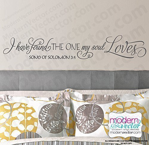 (Song of Solomon 3:4 soul Loves Vinyl Wall Decal)
