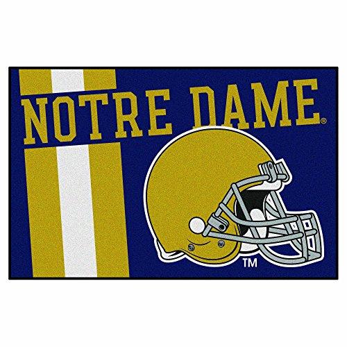 Notre Dame Starter - Fanmats 18767 Notre Dame Uniform Inspired Starter Rug