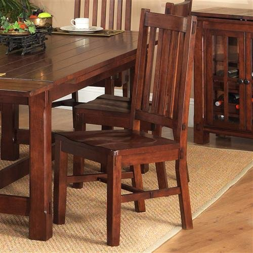 Amanda Home Fergus County Dining Collection Cherry Finish Side Chair (Set of 2)