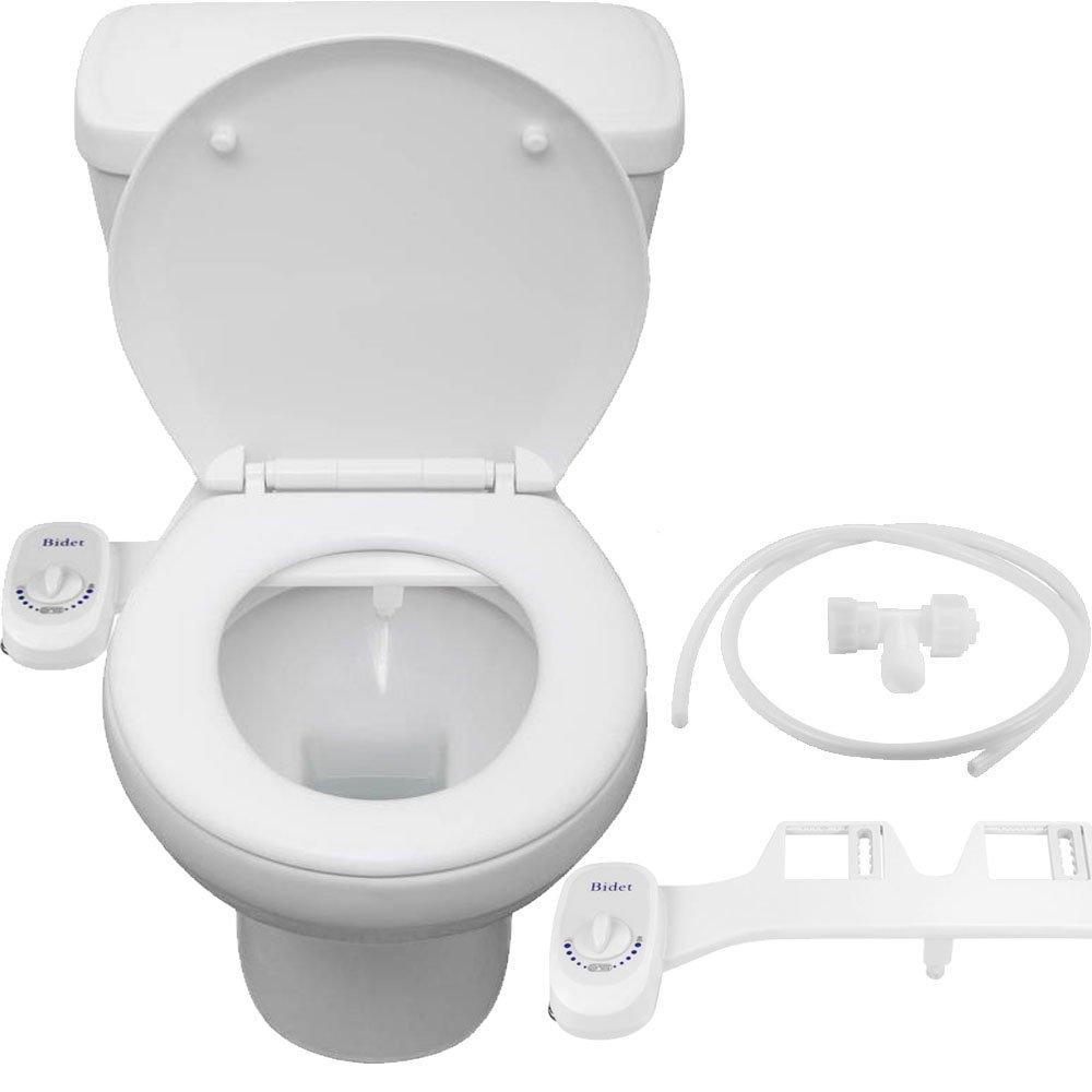 Toilette Siège Bidet Pulvérisateur Autonettoyant Buse Rétractable Non-WC WC Pulvérisateur Bidet Siège de Toilette Attachement Bidet Pratique Pulvérisateur d'Eau Ass Lavage Simple Buse Pulvérisateur d'Eau Froide ALLOMN