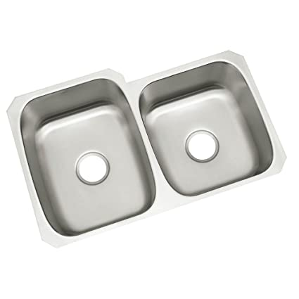 STERLING 11409-NA McAllister 31-3/4-inch by 20-3/4-inch Under-mount Large/Medium Double Bowl Kitchen Sink Stainless Steel - - Amazon.com  sc 1 st  Amazon.com & STERLING 11409-NA McAllister 31-3/4-inch by 20-3/4-inch Under-mount Large/Medium Double Bowl Kitchen Sink Stainless Steel
