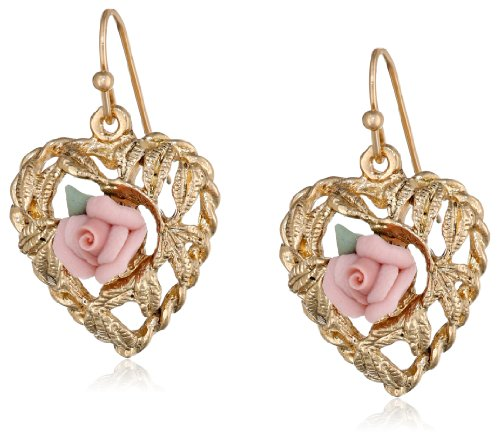 Pink Rose Heart - 1928 Jewelry