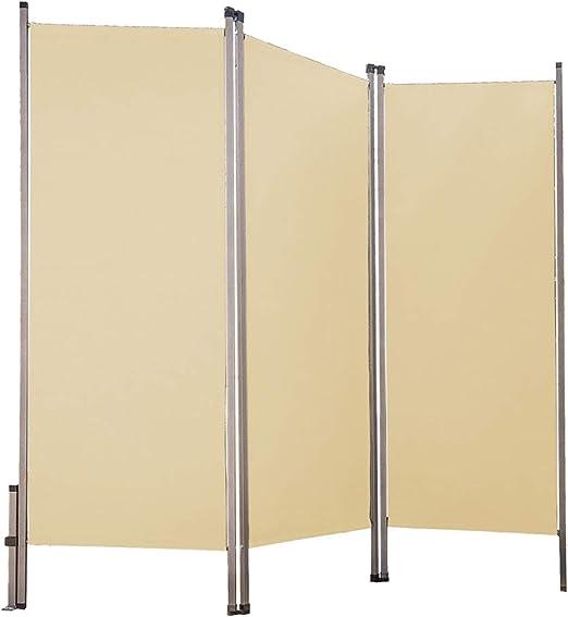 Interior Exterior Pantalla Privacidad Cartel Tabique Plegable emb. Orig. - Crema: Amazon.es: Jardín
