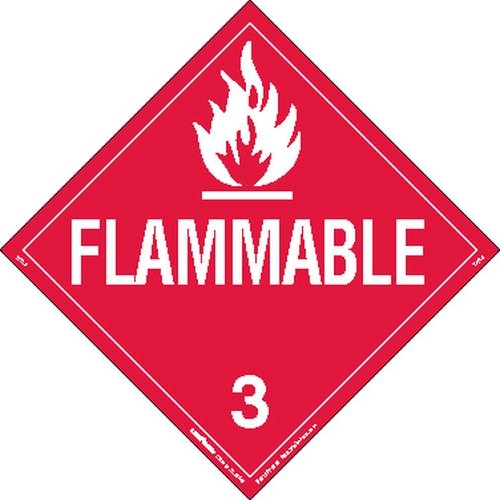 Labelmaster Z-PL2 Flammable Liquid Hazmat Placard, Worded, Tagboard (Pack of 25)