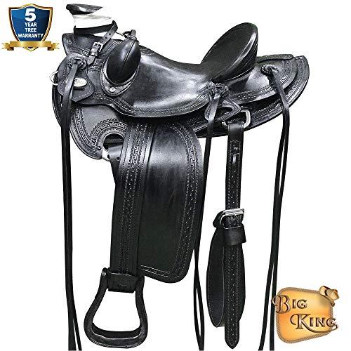 17'' HILASON Big King Series Western Wade Ranch Roping Cowboy Saddle
