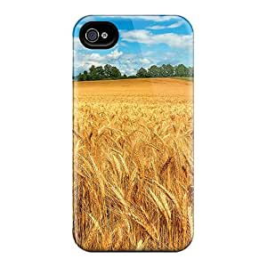 New Style Tpu 4/4s Protective Case Cover/ Iphone Case - Wheat Field