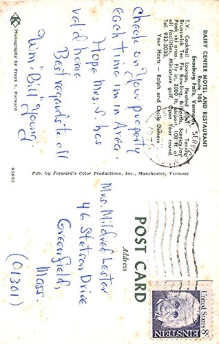 Motel And Restaurant Enosburg Falls, Vermont Vintage Postcard T214