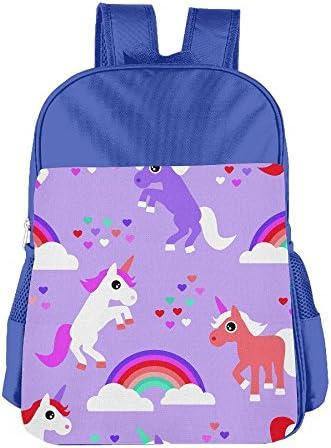 [해외]Rainbow Unicorn Love School Backpack Children Shoulder Daypack Kid Lunch Tote Bags RoyalBlue / Rainbow Unicorn Love School Backpack Children Shoulder Daypack Kid Lunch Tote Bags RoyalBlue