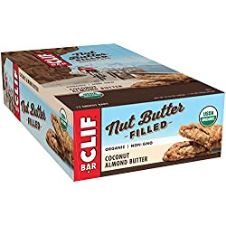 CLIF Nut Butter Filled - Organic Energy Bar - Coconut Almond Butter - (1.76 Ounce Protein Snack Bar, 12 Count)