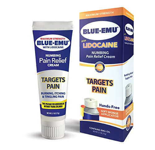Blue Emu Blue-emu lidocaine Pain Relief Cream Non-Child Resistance Cap, Odor Free, 2.7 -